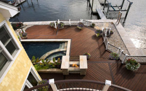 Trex transcend custom deck contractor- Custom bending for Trex